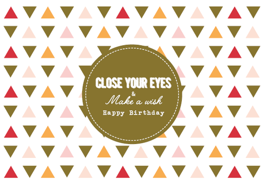 [SS2409] CLOSE YOUR EYES & MAKE A WISH HAPPY BIRTHDAY